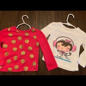🎈2 pack girls shirts